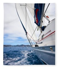 Sailing Bvi Fleece Blanket