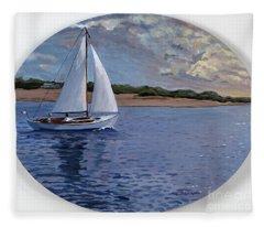 Sailing Homeward Bound Fleece Blanket