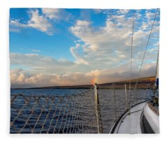 Sailing Lahaina Bay Fleece Blanket