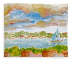 Sailing On The River Fleece Blanket