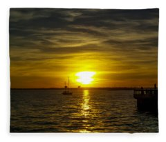 Sailing The Sunset Fleece Blanket