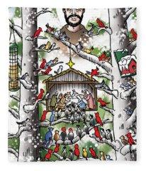 St. Francis And The Birds Fleece Blanket