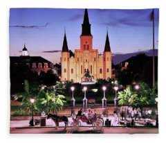 Saint Louis Cathedral New Orleans Fleece Blanket