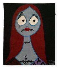 Sally Waits For Jack Fleece Blanket