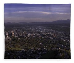 Salt Lake Valley Fleece Blanket