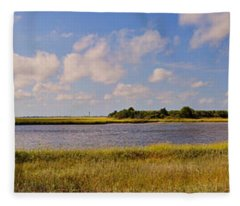 Salt Marsh Morning - Southport Fleece Blanket