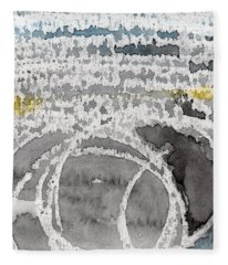 Saltwater- Abstract Painting Fleece Blanket