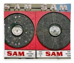 Sam The Record Man Fleece Blanket