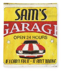 Sam's Garage Fleece Blanket