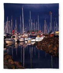 Samsoe Island Denmark Fleece Blanket