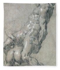 Samson Killing The Philistines Fleece Blanket