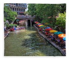 San Antonio Riverwalk Fleece Blanket