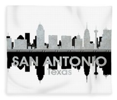 San Antonio Tx 4 Fleece Blanket