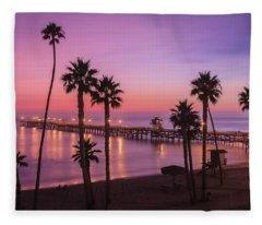 San Clemente Sunset Meditation Fleece Blanket