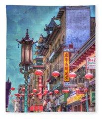 San Francisco Chinatown Fleece Blanket