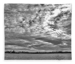 San Francisco Clouds Fleece Blanket