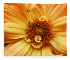 San Francisco Flower Fleece Blanket