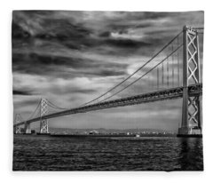 San Francisco - Oakland Bay Bridge Fleece Blanket