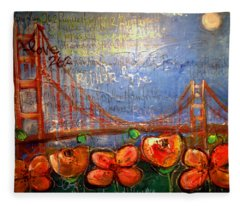 San Francisco Poppies For Lls Fleece Blanket