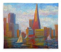 San Francisco Reflections Fleece Blanket