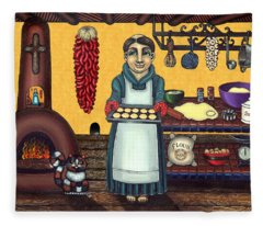 San Pascual Making Biscochitos Fleece Blanket