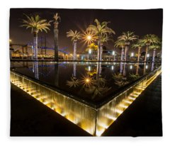 San Pedro Fountains Fleece Blanket
