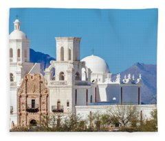 San Xavier Del Bac Mission Fleece Blanket