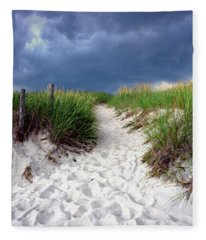 Sand Dune Under Storm Fleece Blanket