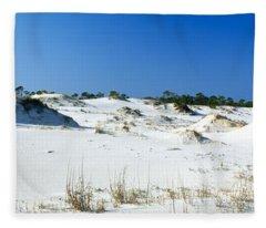 Sand Dunes In A Desert, St. George Fleece Blanket