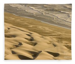Sand Dunes, Oregon Fleece Blanket