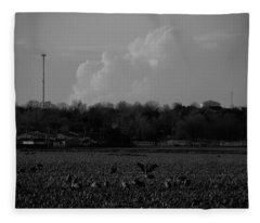 Sand Hill Cranes With Nebraska Thunderstorm Fleece Blanket