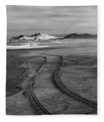 Sand Tracks Fleece Blanket