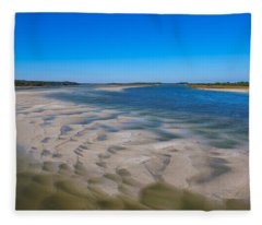 Sandbars On The Fort George River Fleece Blanket