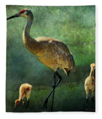 Gulf State Park Paintings Fleece Blankets