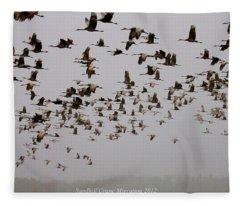 Sandhill Crane Migration Fleece Blanket