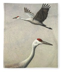 Sandhill Cranes Fleece Blanket