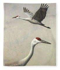 Crane Fleece Blankets