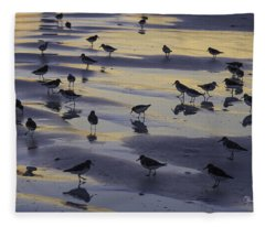Sandpiper Sunset Convention Fleece Blanket