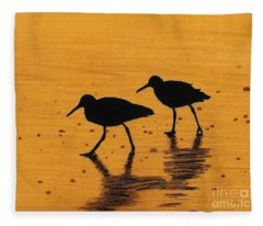 Sandpipers - At - Sunrise Fleece Blanket