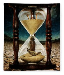 Sands Of Time ... Memento Mori  Fleece Blanket