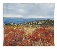 Sandstone Peak Fall Landscape Fleece Blanket