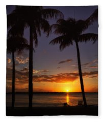 Sanibel Island Sunset Fleece Blanket