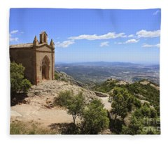 Sant Joan Chapel Spain Fleece Blanket