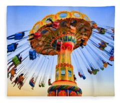 Santa Cruz Seaswing At Sunset 6 Painterly Fleece Blanket