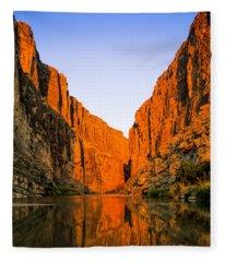 Santa Elena Canyon Fleece Blanket