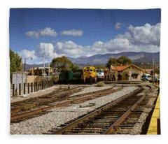 Santa Fe Rail Road Fleece Blanket