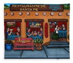 Santa Fe Restaurant Tyler Fleece Blanket