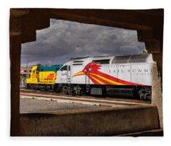 Santa Fe Train Fleece Blanket