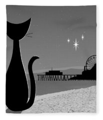 Santa Monica Pier Fleece Blanket
