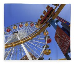 Santa Monica Pier Pacific Plunge Fleece Blanket